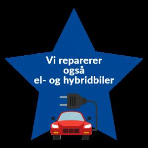 reparation af hybridbil på autoværksted i farum